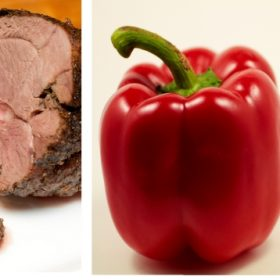Healthy Recipe: Garlic Lamb with Sweet Red Peppers
